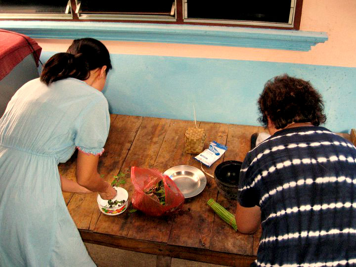 In our old kitchen in Lamphun, Thailand, 2007