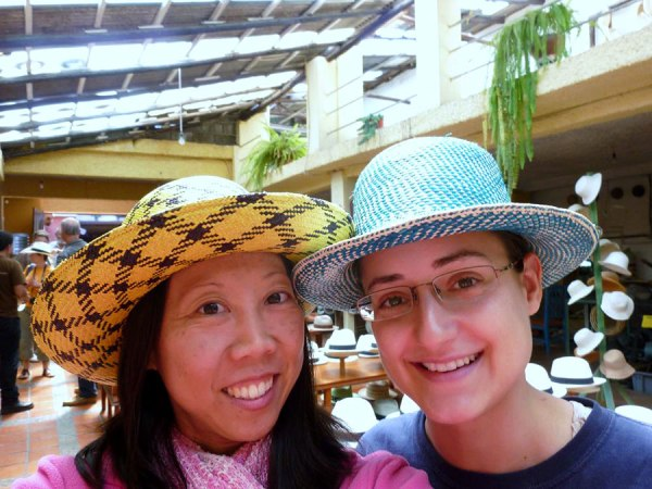 Jamie and I at the Panama Hat Museum.