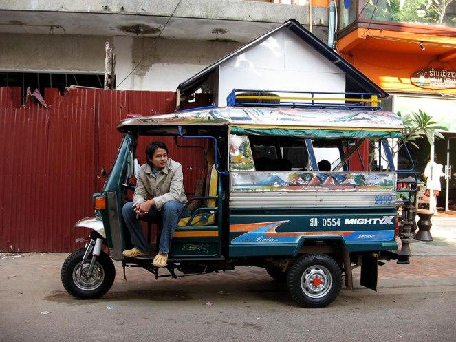 Laos songtaew taxi, Vientiane, 2009
