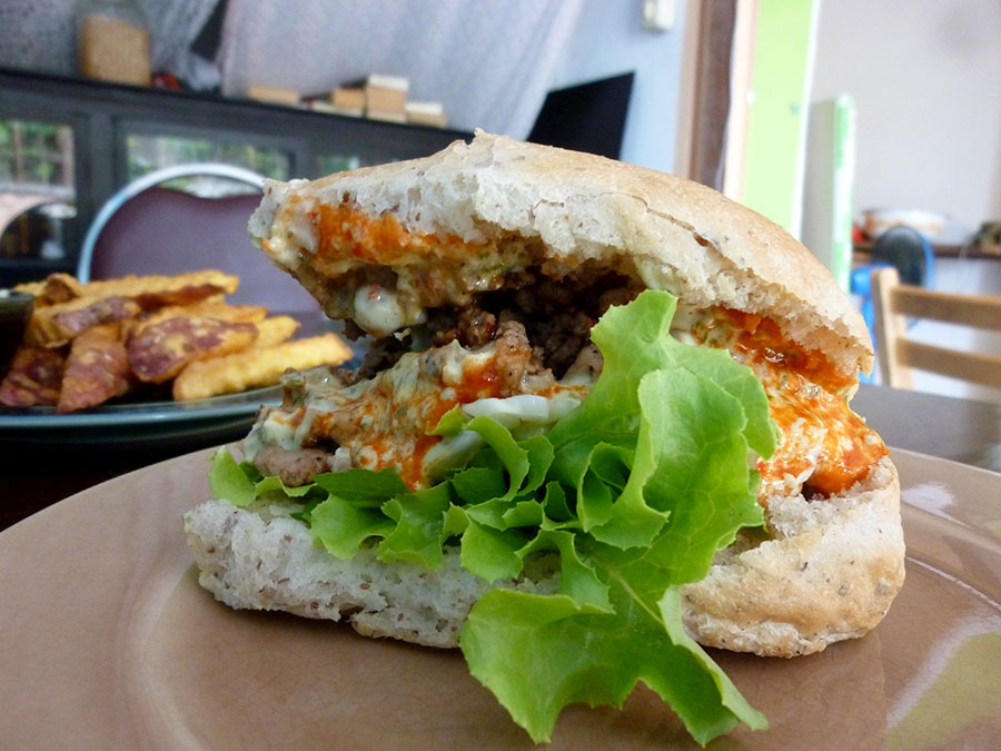 Or would you prefer a larb ลาบ inspired sandwich?