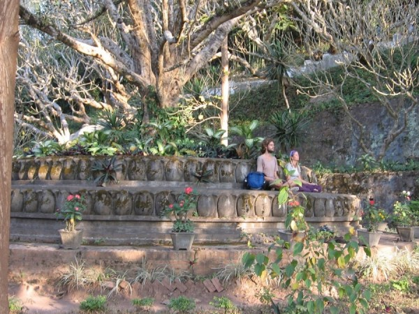 Meditating hippies at Luang Prabang Laos