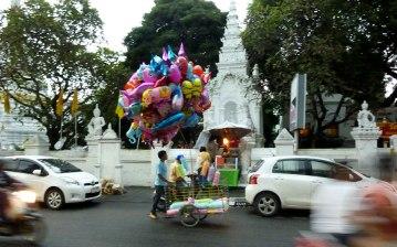 balloon seller in Chiang Mai