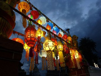 @Wat Bupparam for Loy Krathong, Chiang Mai, 2013