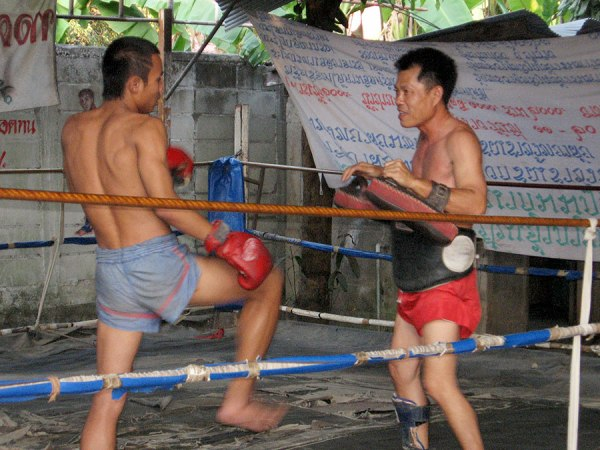Muay Thai training, Lamphun, 2007