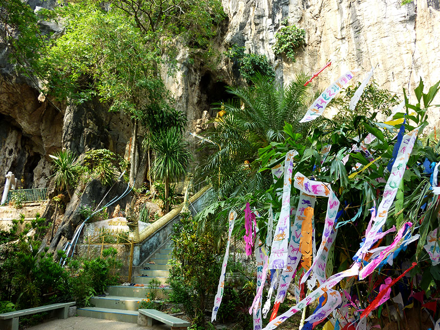 Entrance of the Buddha Cave Temple Chiang Rai Beach