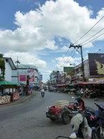 """Behind Kad Luang, the """"big market""""."""