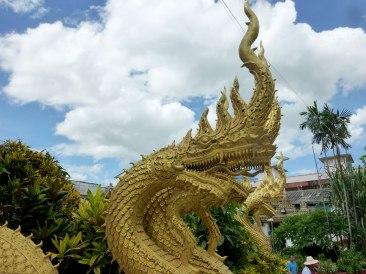 Nagas at Wat Mung Muang.