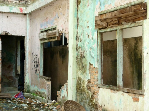 Abandoned, neglected, up for demolition, Vientiane, Laos.