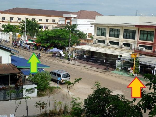 Vientiane Laos Thai Embassy line comparison