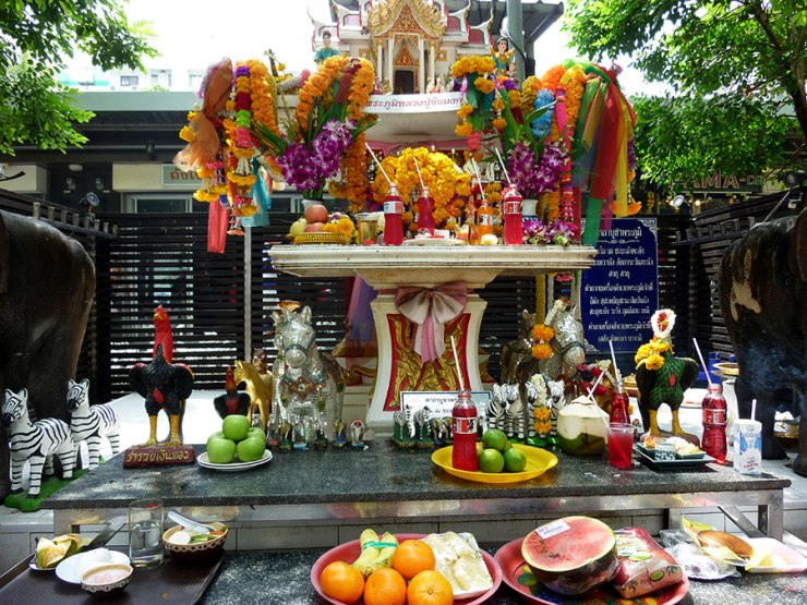 Spirit house at Siam Square. [Bangkok, 2013]