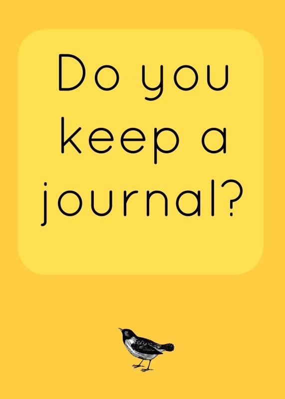 do you keep a journal