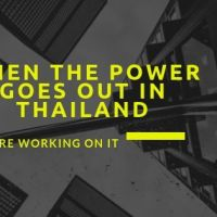 When the power goes out in Thailand