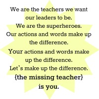 the missing teacher: a manifesto