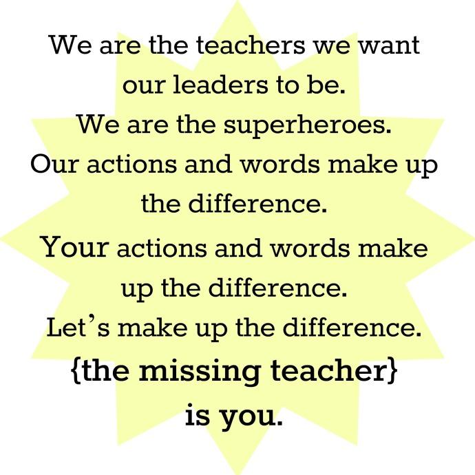 the missing teacher manifesto