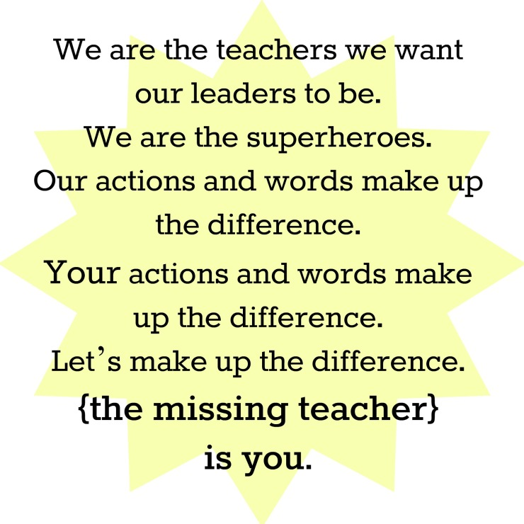 the missing teacher manifesto