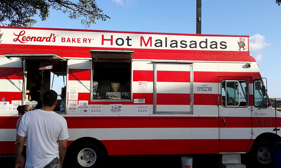 Malasadas food truck, Oahu