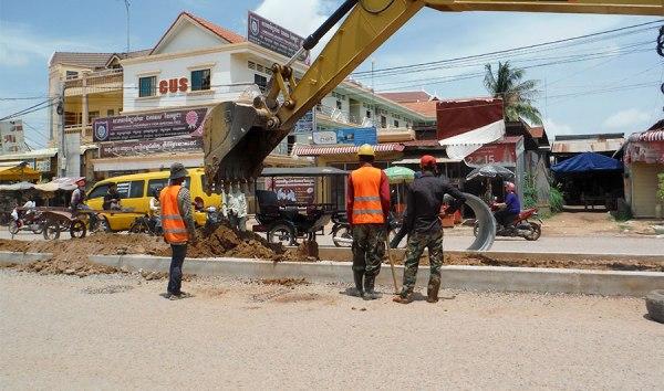 Siem Reap construction on Lok Tanoey