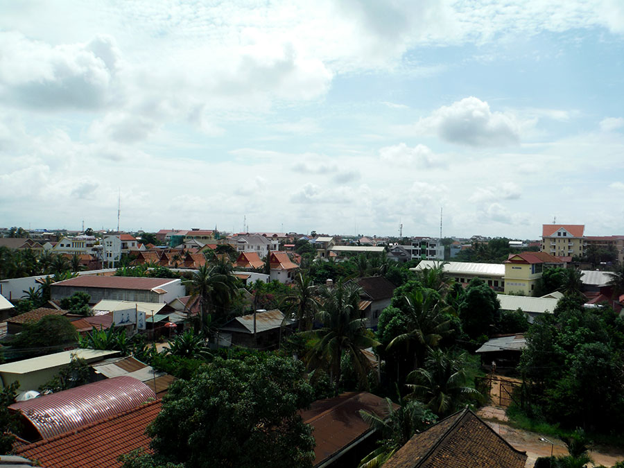 View of Siem Reap looking at the newer side of town.