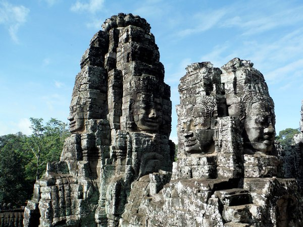 Bayon was constructed by Jayavarman VII who constructed the most temples during his rein. (Buddhist)