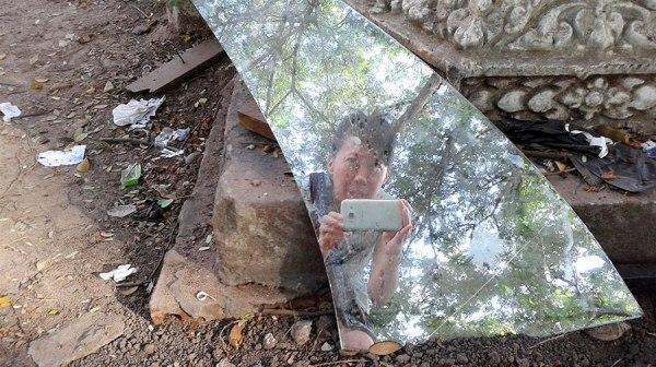 broken glass Siem Reap