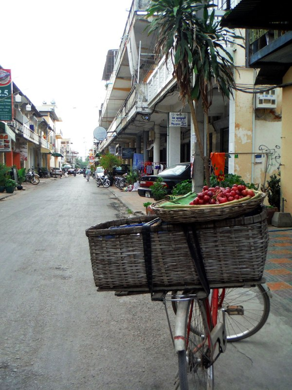 Bicycle fruit seller on Street 1.5