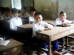 Smiling boys.