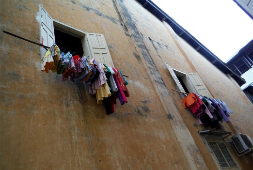 Hanging clothes