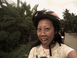 Apparently, I don't know how to wear a helmet. Must be that sloping forehead.
