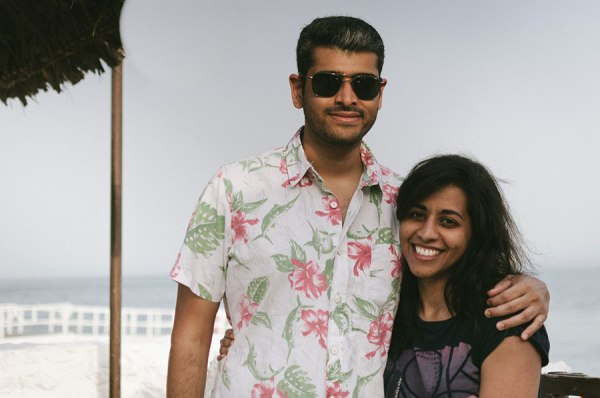 """Me and my SO, taken the second weekend after I moved to Bahrain, on a trip to Al Dar Island. Summer had pretty much kicked in so it was perhaps a little too hot. Excuse the beach hair!"""