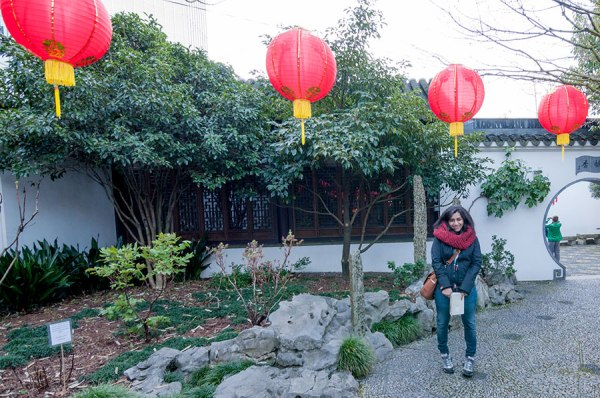 Jaina at the Lan Su Chinese Garden in Portland last year. It was nice to get out of Bahrain for a little bit and enjoy some winter weather.