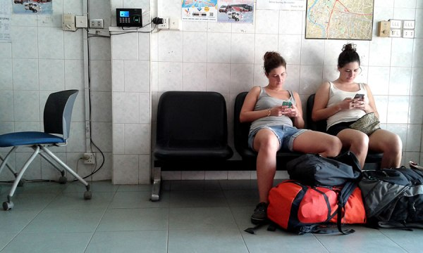 Waiting in Battambang.
