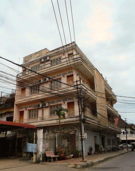 Wires + pink building