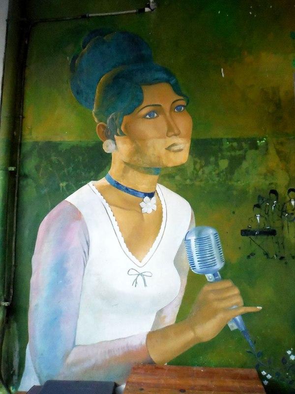 Ros Serey Sothea mural at Baan Jai [Battambang, 2015]