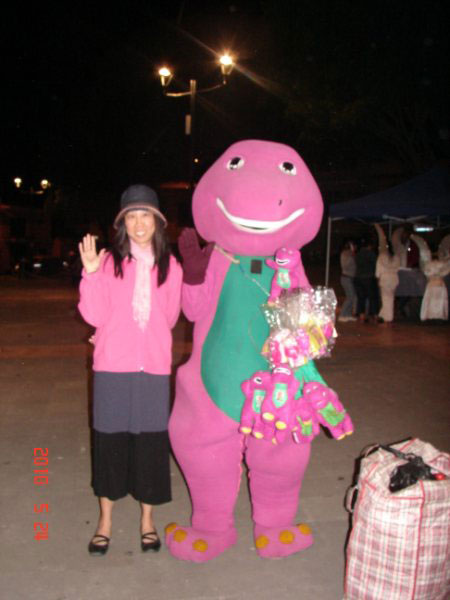 The ever popular Barney. Weird, right? Had to snag him for a photo op.