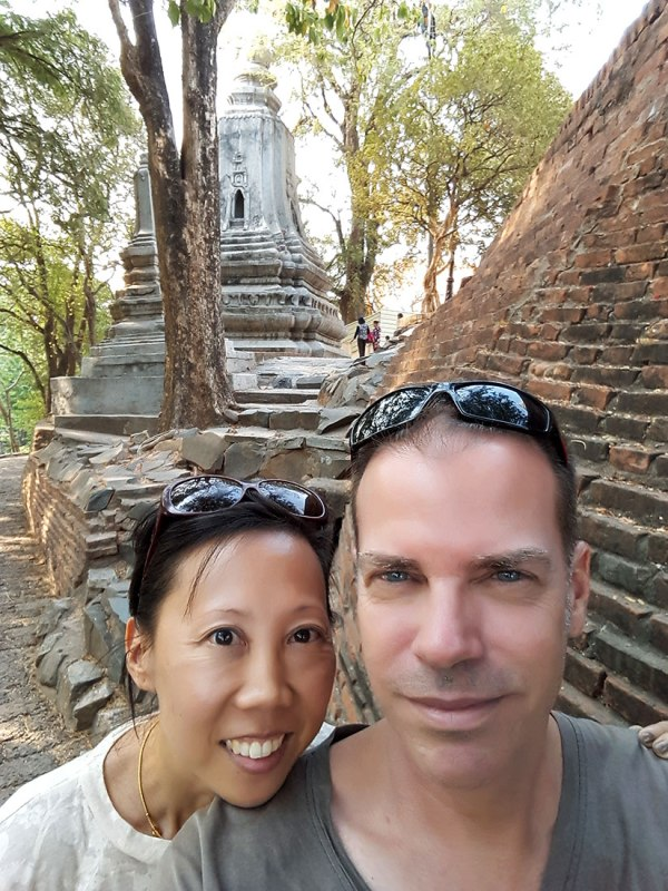 You probably can't tell, but we are melting [at Wat Phnom].