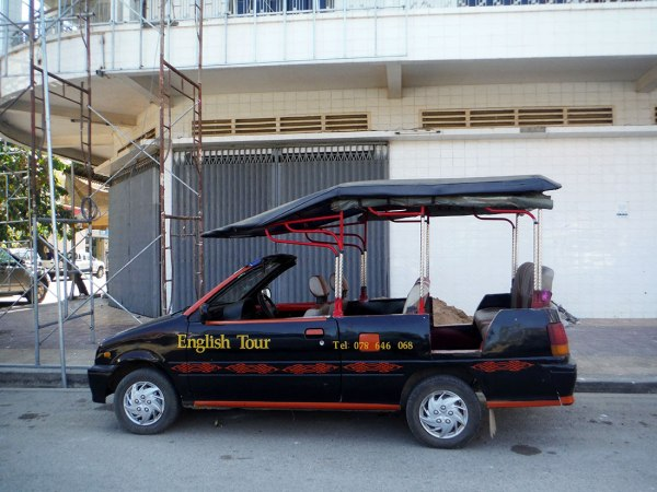 Is this the ugliest car you've seen? No, seriously. [Battambang, 2015]