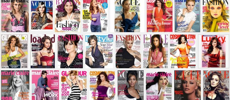 google-shot-of womens magazines
