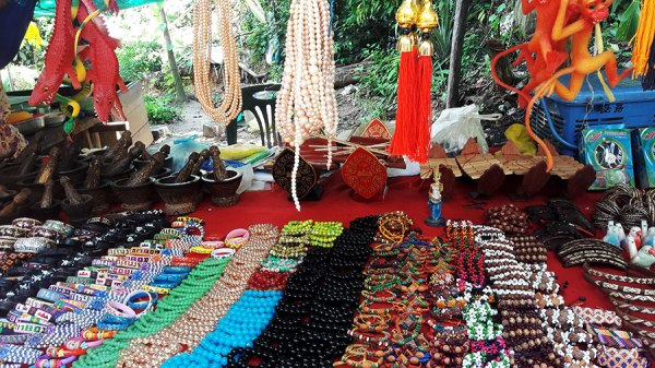 Of course, there are trinkets and such to buy on Kulen. While we didn't buy anything, we did get a few snacks along the way.