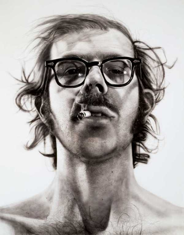 Yeah, I'm choosing iconic Chuck Close. An excellent example of an artist choosing ordinary subjects and making them extraordinary.