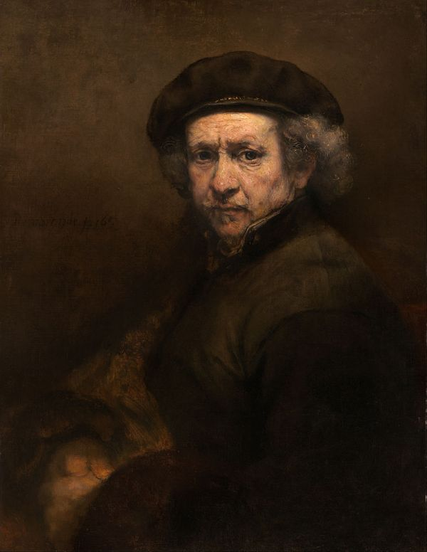 Rembrandt was king at capturing himself as he aged. Not exactly flattering self-portraits, but nonetheless, honest.