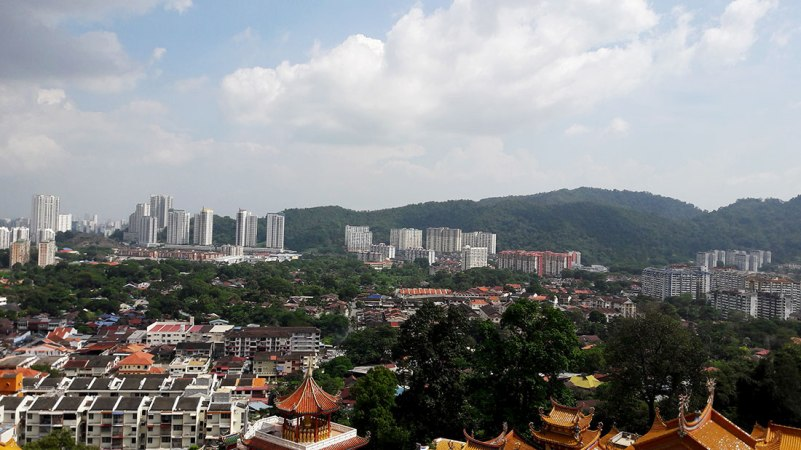 kek lok si view of penang