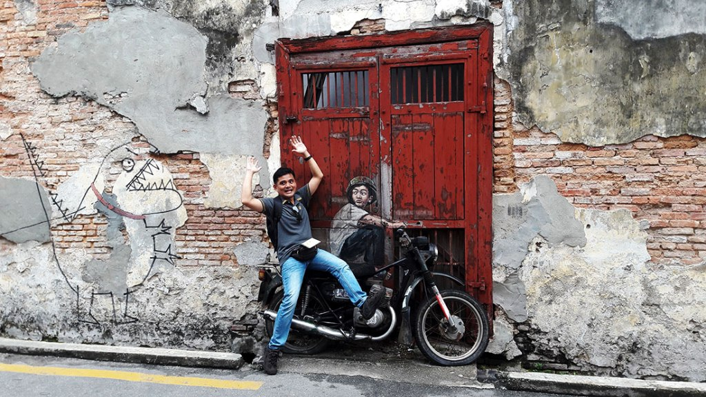 penang motobike street art