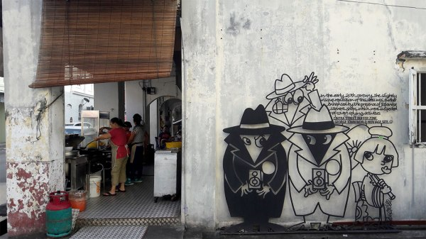 spy vs spy street art penang