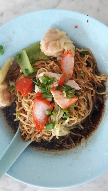 wan tan mee in georgetown penang