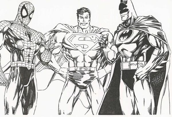 batman__superman__spidey