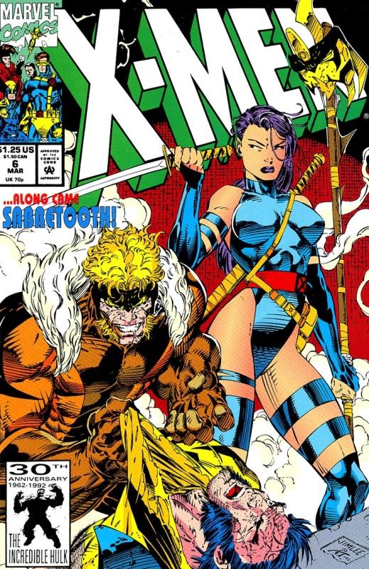 X-Men #6 cover art by Jim Lee