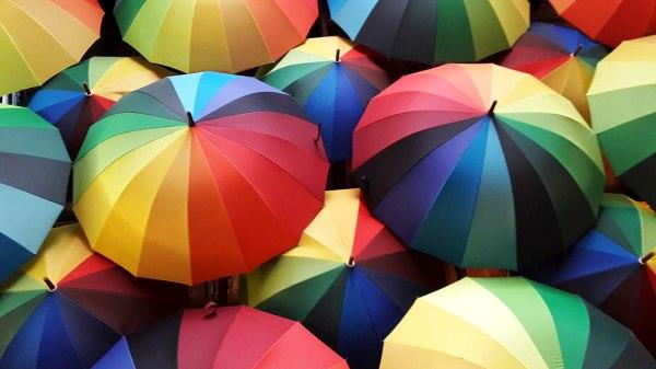 rainbow umbrellas in penang malaysia