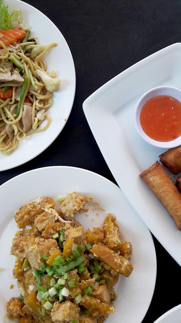 3 dishes at Little Kroma Restaurant, Siem Reap