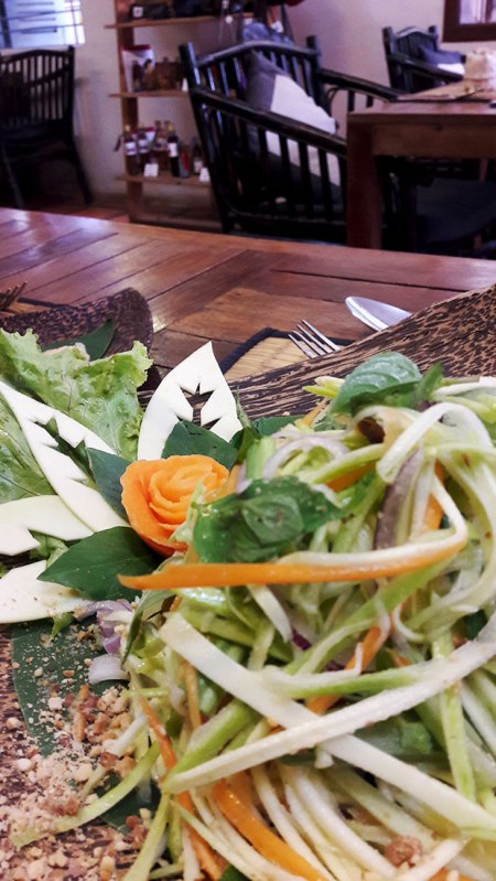 Banana blossom salad at New Leaf Eatery in Siem Reap, Cambodia