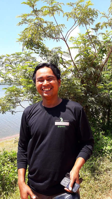 Saavid, tuk tuk driver in Kampot, Cambodia